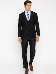 Van Heusen Navy Single-Breasted Slim Fit Formal Suit