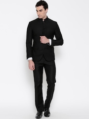 Van Heusen Black Single-Breasted Slim Partywear Suit