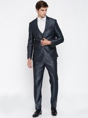 Van Heusen Men Navy Slim Fit Single-Breasted Suit
