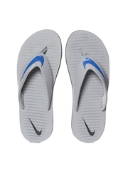 Nike Men Grey Chroma Thong 5 Flip-Flops