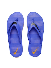 Nike Men Blue Printed Chroma Thong 5 Flip-Flops