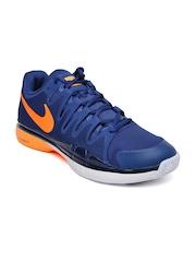 Nike Men Blue Zoom Vapor 9.5 Tour Tennis Shoes