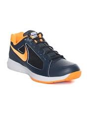 Nike Men Navy & Orange Air Vapor Ace Tennis Shoes