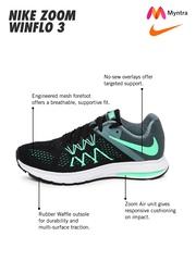 Nike Women Black & Grey Zoom Winflo 3 Running Shoes