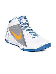 Nike Men White & Grey The Air Overplay IX Basketball Shoes