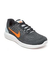 Nike Men Charcoal Grey Lunarglide 8 Running Shoes