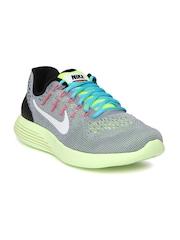Nike Men Grey Lunarglide 8 Running Shoes