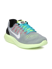 Nike Men Grey Lunarglide 8 Running Shoes