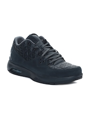 Nike Men Navy Blue Jordan Clutch Quilted Leather Basketball Shoes