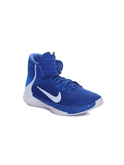 Nike Boys Blue Prime Hype DF Basketball Shoes