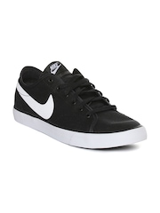 Nike Men Black Primo Court Solid Regular Sneakers