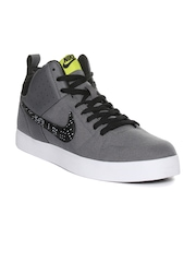 Nike Men Grey Liteforce III MID Solid Mid-Top Sneakers