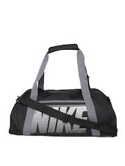 Nike Women Black Printed Gym Duffel Bag
