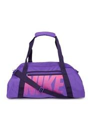 Nike Women Purple Printed Gym Duffel Bag