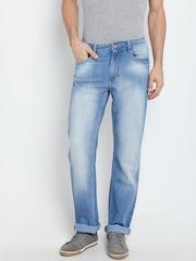John Players Men Blue Mid-Rise Clean Look Jeans