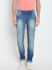 John Players Men Blue Skinny Fit Low-Rise Clean Look Jeans