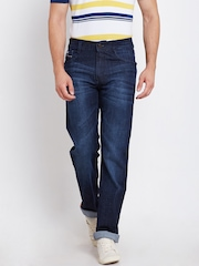 John Players Men Navy Mid-Rise Clean Look Jeans