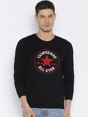 Converse Men Black Printed T-shirt