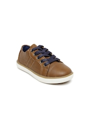 Boltio Boys Brown Perforated Sneakers