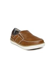 Boltio Boys Brown Slip-On Sneakers