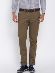 U.S. Polo Assn. Men Brown Solid Chinos