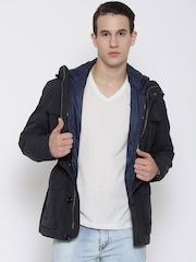 Tommy Hilfiger Navy Hooded Jacket with Detachable Inner Jacket