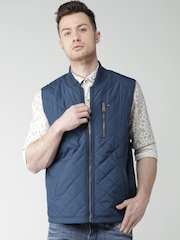 Tommy Hilfiger Blue Sleeveless Quilted Jacket