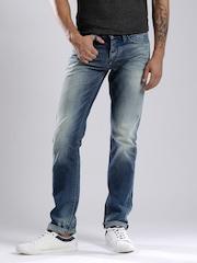 Tommy Hilfiger Men Blue Scanton Slim Fit Low-Rise Mild Distress Jeans