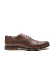 United Colors of Benetton Men Brown Leather Formal Shoes