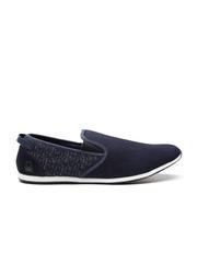 United Colors of Benetton Men Navy Slip-On Sneakers