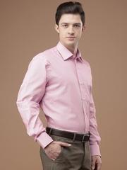 Louis Philippe Men Pink Self design Formal Shirt