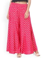 Varanga Women Pink Printed Regular Fit Palazzos
