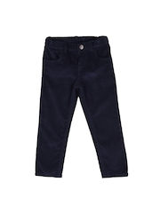 mothercare Boys Navy Regular Fit Flat-Front Trousers