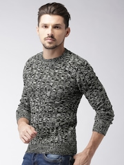 ALCOTT Men Black & Grey Sweater