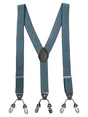 The Tie Hub Men Teal Blue Patterned Suspenders