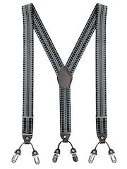 The Tie Hub Men Black Patterned Suspenders