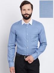Blackberrys Men Blue Slim Fit Solid Formal Shirt