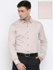Blackberrys Men Beige Slim Fit Formal Shirt