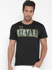 Nirvana Men Black Printed Round Neck T-Shirt