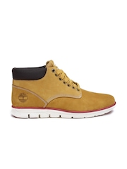 Timberland Men Mustard Brown Mid-Top Sneakers
