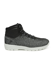 Timberland Men Black Woven High-Top Sneakers