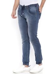 Bandit Men Grey Slim Fit Mid-Rise Clean Look Joggers Jeans