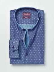 INVICTUS Men Blue Slim Fit Self-Design Formal Shirt