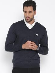 Monte Carlo Men Navy Solid Woollen Sweater
