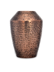 Athome by Nilkamal Copper-Toned Textured Metal Vase