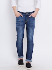 Flying Machine Men Blue Skinny Fit Low-Rise Clean Look Jeans