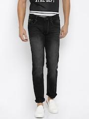 Flying Machine Men Black Prince Slim Fit Mid-Rise Clean Look Jeans
