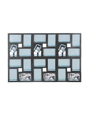 Athome by Nilkamal Black Plastic Collage Photo Frame