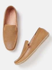 Mast & Harbour Men Brown Loafers with Cut-Outs