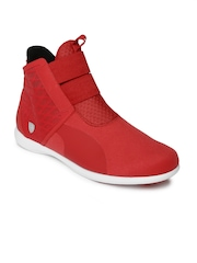 Puma Women Red Ferrari Rosso Corsa High-Tops Sneakers